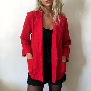 {Vintage} open red blazer